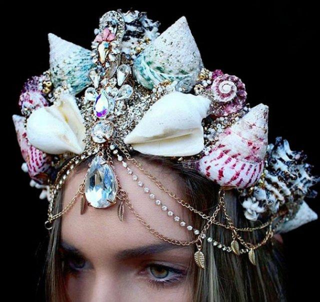 Se poarta scoicile: Coroane de sirena din cochilii - Poza 13