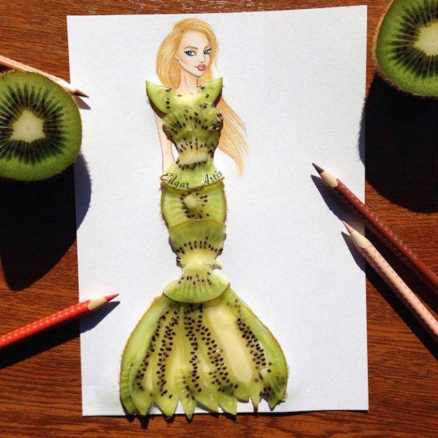 Moda bizara cu alimente, in ilustratii 3D - Poza 3