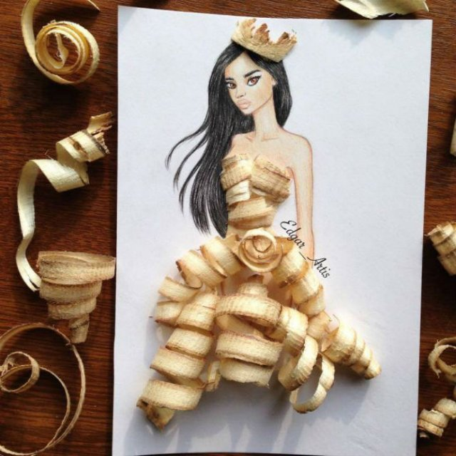 Moda bizara cu alimente, in ilustratii 3D - Poza 6