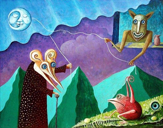 Picturi suprarealiste de Leszek Andrzej Kostuj - Poza 1