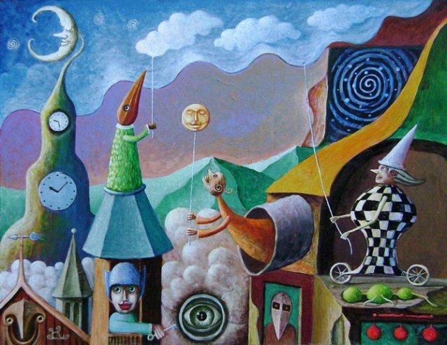 Picturi suprarealiste de Leszek Andrzej Kostuj - Poza 11
