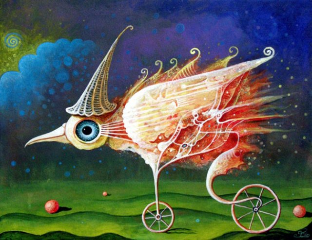 Picturi suprarealiste de Leszek Andrzej Kostuj - Poza 15