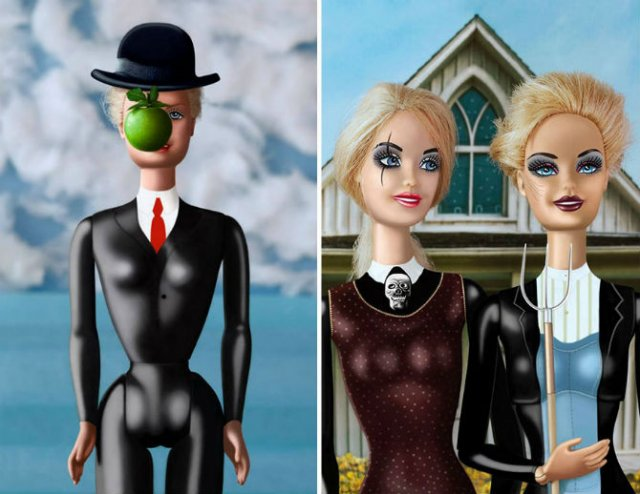 Barbie invadeaza picturi celebre pentru a readuce femeia in istoria ar - Poza 2