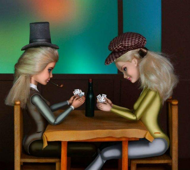 Barbie invadeaza picturi celebre pentru a readuce femeia in istoria ar - Poza 5