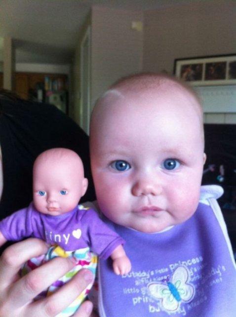 Copilasi adorabili care arata ca papusile lor - Poza 17