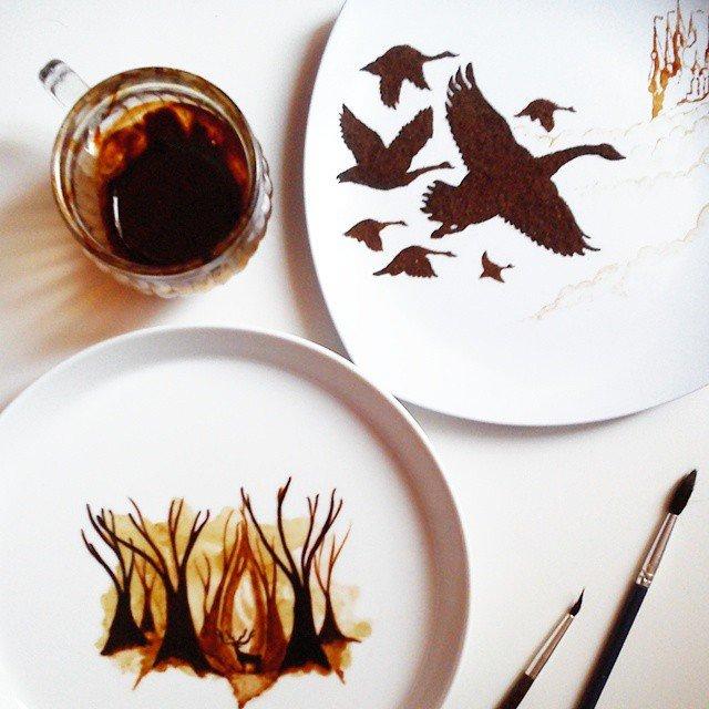 Artistul cafelei: Savoare vizuala intr-un altfel pictorial - Poza 7