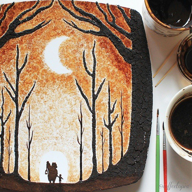 Artistul cafelei: Savoare vizuala intr-un altfel pictorial - Poza 12