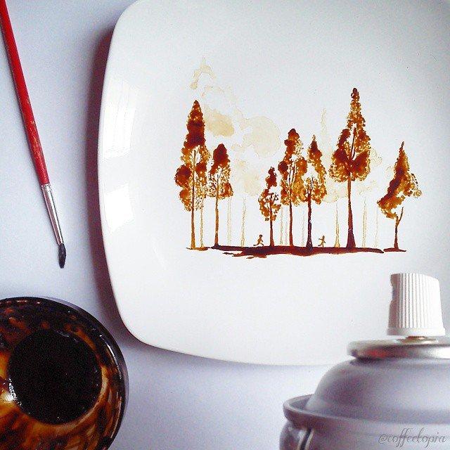 Artistul cafelei: Savoare vizuala intr-un altfel pictorial - Poza 4