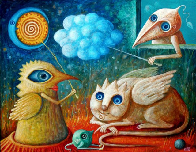 Picturi suprarealiste de Leszek Andrzej Kostuj - Poza 2