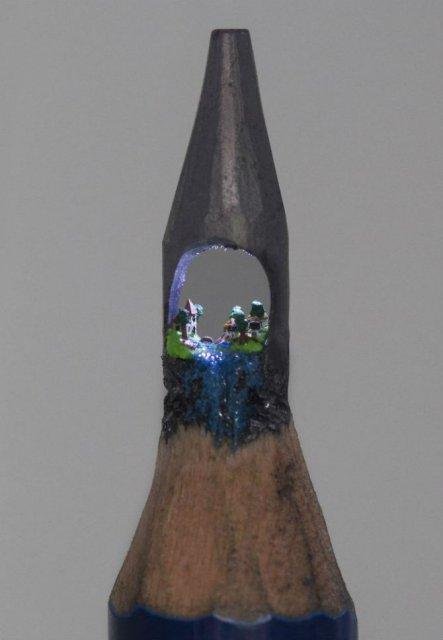 Cele mai mici sculpturi in mina de creion - Poza 9