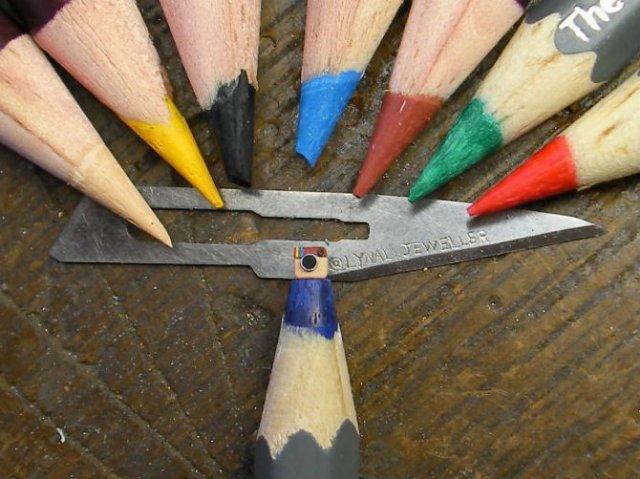 Cele mai mici sculpturi in mina de creion - Poza 7