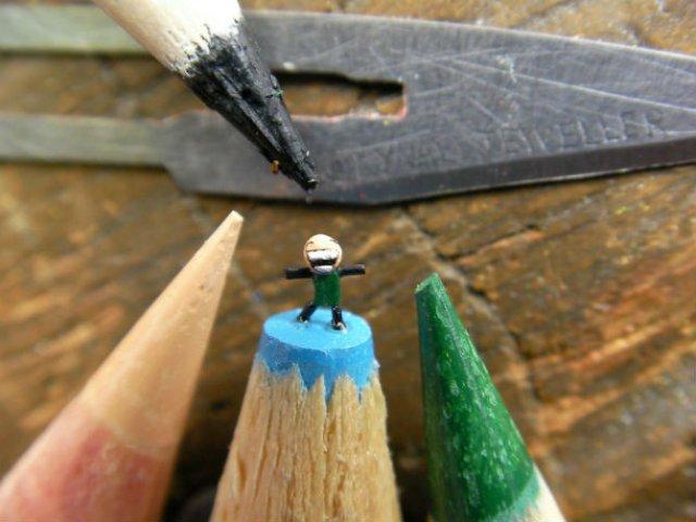 Cele mai mici sculpturi in mina de creion - Poza 8