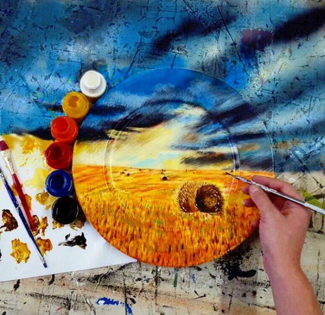 Pictura pe farfurii, cu Jacqueline Poirier - Poza 15