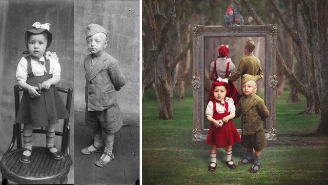 Fotografii din Romania interbelica, suprarealist nuantate - Poza 10