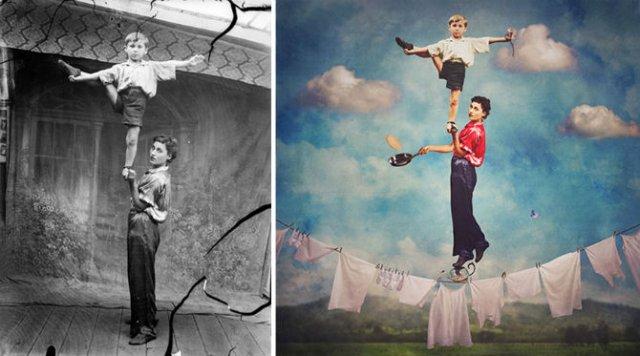 Fotografii din Romania interbelica, suprarealist nuantate - Poza 14