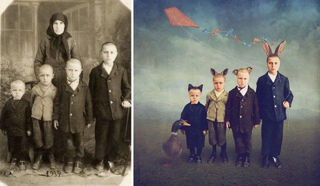 Fotografii din Romania interbelica, suprarealist nuantate - Poza 18