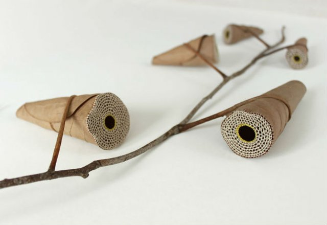 Toamna se impletesc contrastele: Ornamente crosetate in frunze uscate - Poza 10