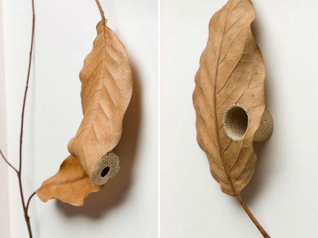 Toamna se impletesc contrastele: Ornamente crosetate in frunze uscate - Poza 11
