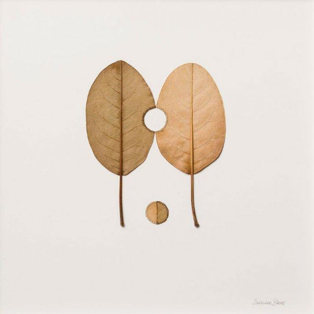 Toamna se impletesc contrastele: Ornamente crosetate in frunze uscate - Poza 12