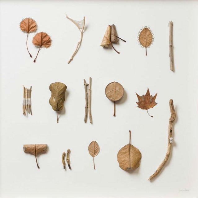 Toamna se impletesc contrastele: Ornamente crosetate in frunze uscate - Poza 7