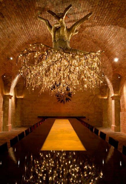 Copacul care lumineaza spiritele celor pasionati de vin