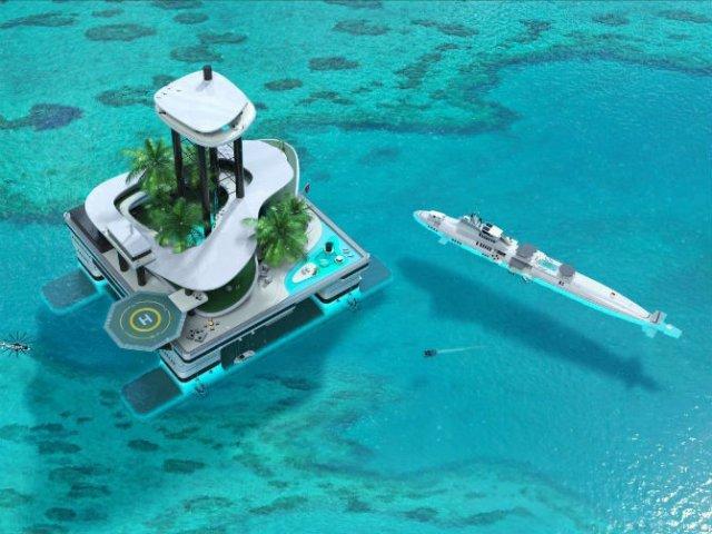 Extravaganta de pe ape: Insula mobila de lux - Poza 1