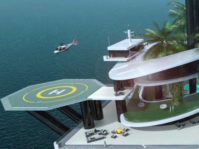 Extravaganta de pe ape: Insula mobila privata de lux