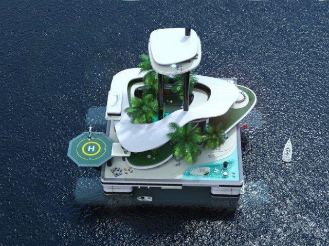 Extravaganta de pe ape: Insula mobila de lux - Poza 2