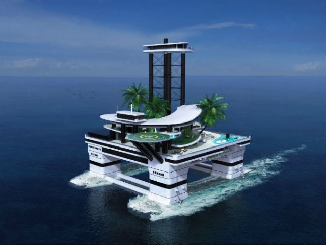 Extravaganta de pe ape: Insula mobila de lux - Poza 3
