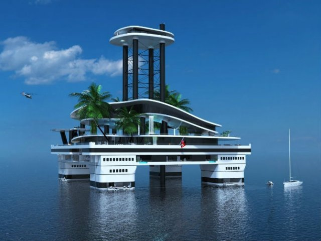 Extravaganta de pe ape: Insula mobila de lux - Poza 9