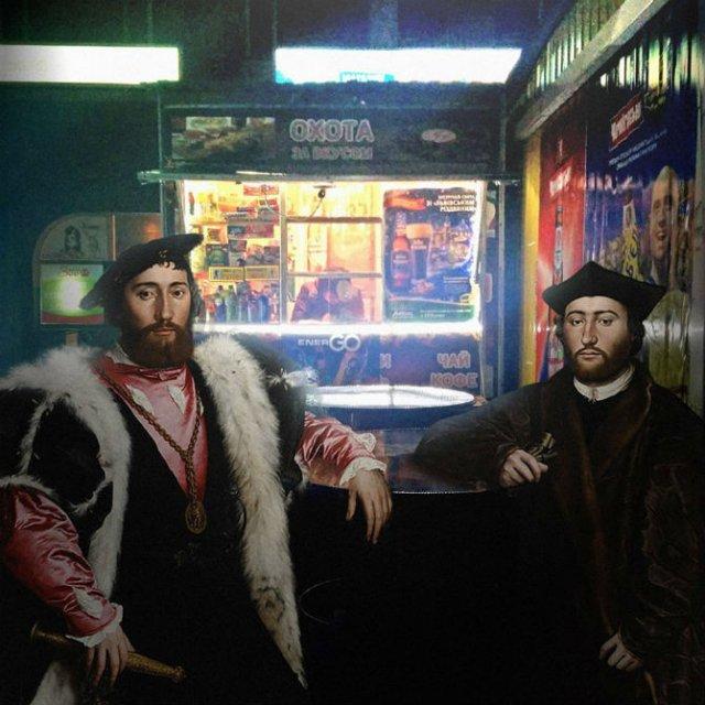 Personaje clasice, coborate din tablouri in zilele noastre