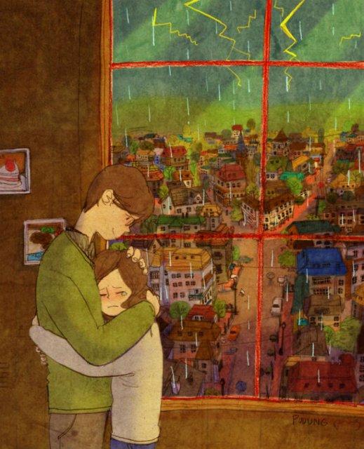 Marea dragoste, in gesturi marunte: 13 Ilustratii duioase - Poza 8