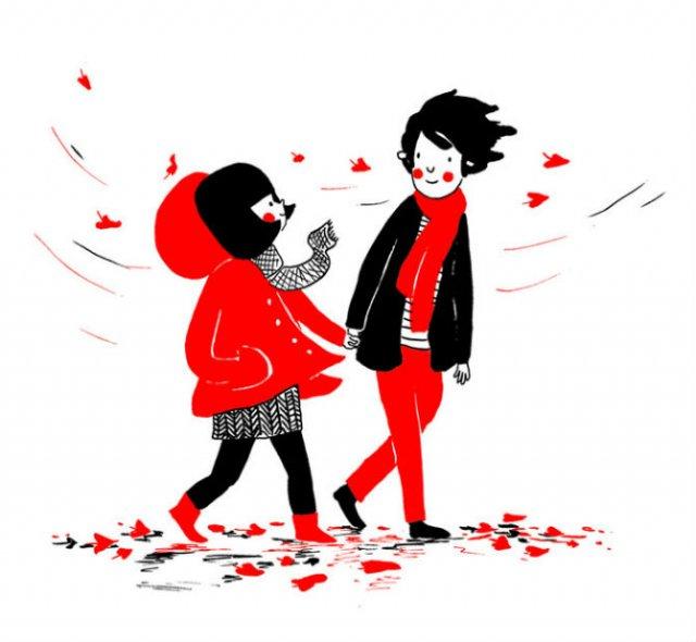 Gesturile mici ale inimilor pereche, in desene emotionante - Poza 15