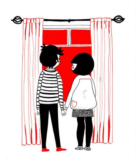 Gesturile mici ale inimilor pereche, in desene emotionante - Poza 16