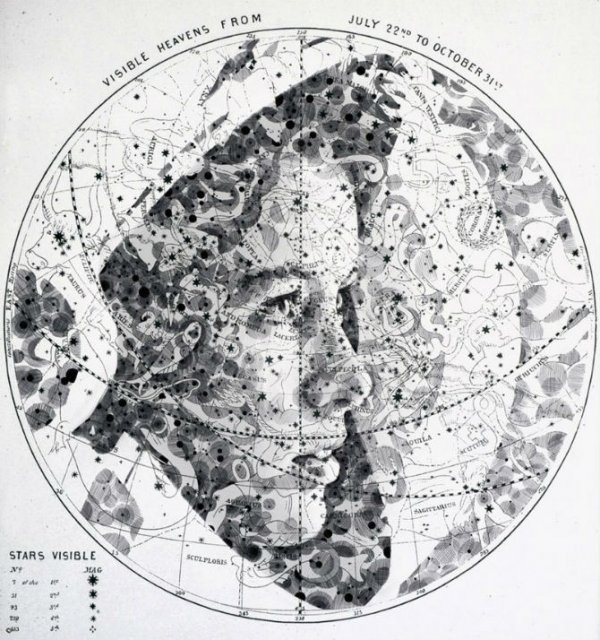 11 Chipuri umane realizate din harti vechi - Poza 2