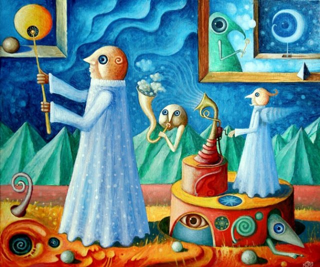 Picturi suprarealiste de Leszek Andrzej Kostuj - Poza 12