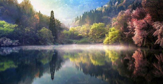 Peisaje superbe oglindite in apa - Poza 11