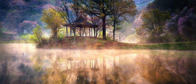 Peisaje superbe oglindite in apa - Poza 4