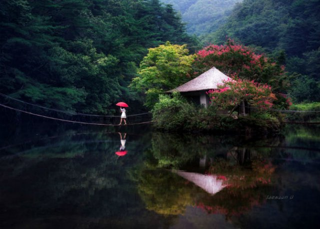 Peisaje superbe oglindite in apa - Poza 8
