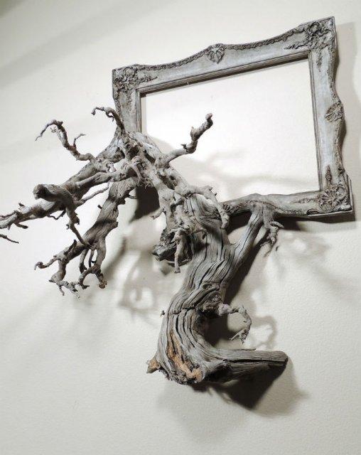 Fuziune artistica: Rame de tablouri, ca prelungiri de copaci - Poza 12