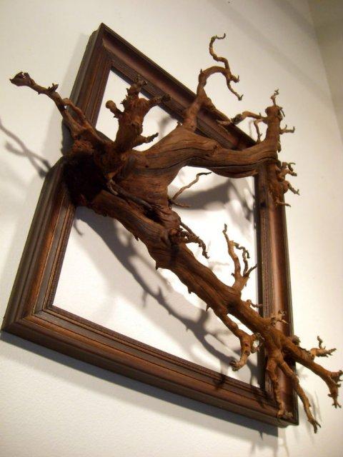 Fuziune artistica: Rame de tablouri, ca prelungiri de copaci - Poza 14