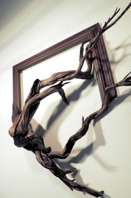 Fuziune artistica: Rame de tablouri, ca prelungiri de copaci - Poza 15