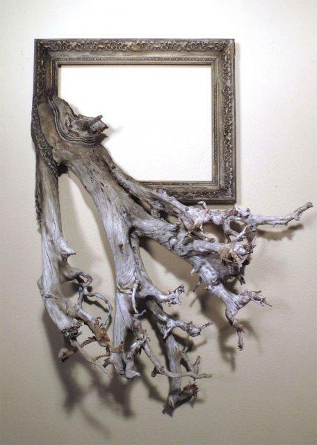 Fuziune artistica: Rame de tablouri, ca prelungiri de copaci - Poza 16