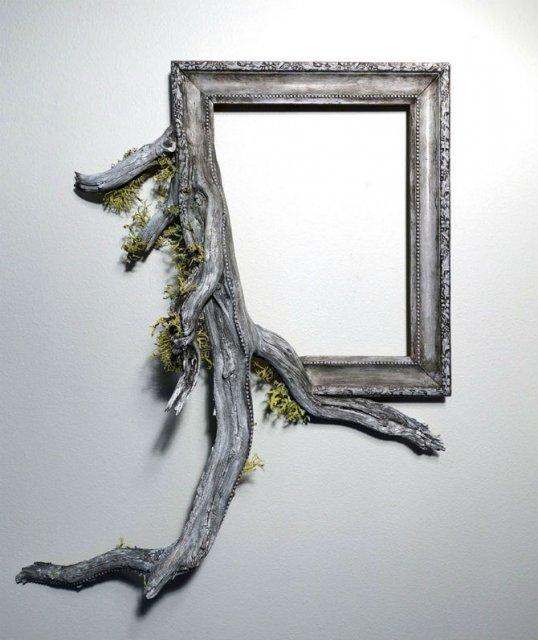 Fuziune artistica: Rame de tablouri, ca prelungiri de copaci - Poza 2