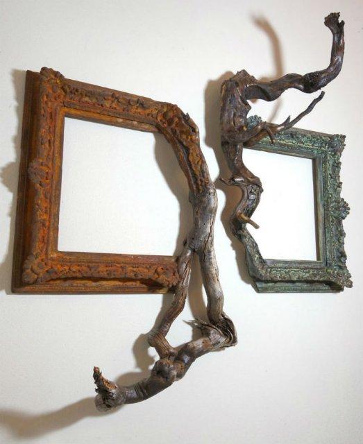 Fuziune artistica: Rame de tablouri, ca prelungiri de copaci - Poza 6