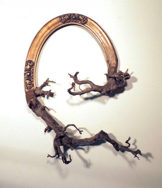 Fuziune artistica: Rame de tablouri, ca prelungiri de copaci - Poza 8