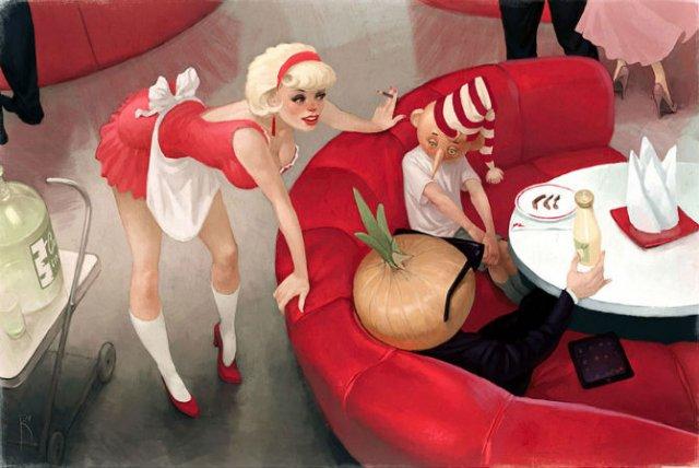 Ilustratiile controversate al unui artist rus - Poza 12