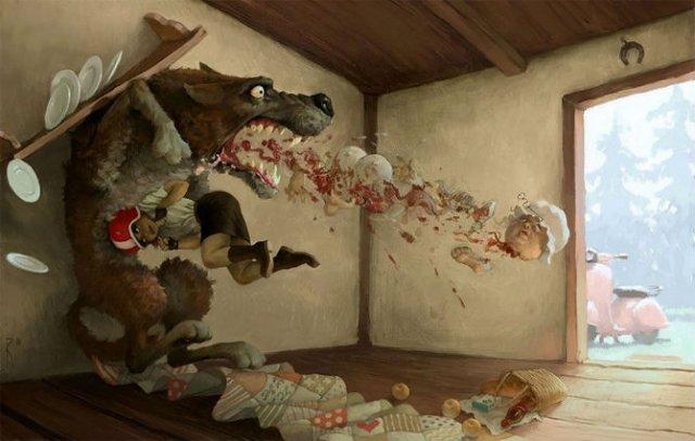 Ilustratiile controversate al unui artist rus - Poza 15