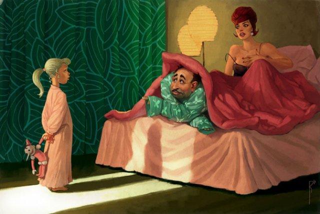 Ilustratiile controversate al unui artist rus - Poza 2