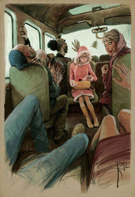 Ilustratiile controversate al unui artist rus - Poza 3